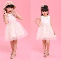 Vestidos Infantis Kidsdress Wholesale Baby Girls Dresses . Korean Foreign Trade Children Dress Girl Princess 4pcs/lot A10056