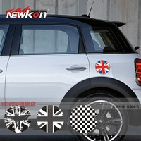 Free Shipping MINI gas tank cover sticker garland, mini cooper S R56 Union jack checker flag, Mini emblem gas tank cap sticker