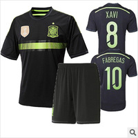 2014 Summer  Soccer Jersey Spain Football clothes clothing men's short-sleeved jersey suit Spain jerseys  Soccer clothes wear