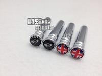 Free Shipping MINI Mini cooper Union Jack door pin door to mention tire valve caps, Union Jack Mini wings emblem 2pcs/lot