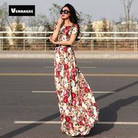 Free Shipping 2014 Fashion Women Pleated Print Bohemian Lace Maxi Dress High Waist Vintage Slim Floor Length One piece Dress XXL