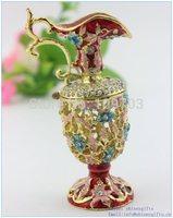 handmade enamel vase shape jewelry box making supplies wholesales free shipping