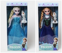 original Box 2 Set 6 Joint Moveable Frozen Princess11.5 Inch Frozen Doll Elsa and Frozen Anna with Snow treasure