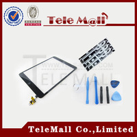 100% Good Quality For Apple ipad mini Touch Screen Digitizer Panel Assembly with IC Connector & HOME Button FLEX , Free Shipping