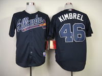 2014 Stitched Men's Baseball Jersey Atlanta Braves #46 Craig Kimbrel Cool Base Jersey,Embroidery Logos,Size: M-XXXL