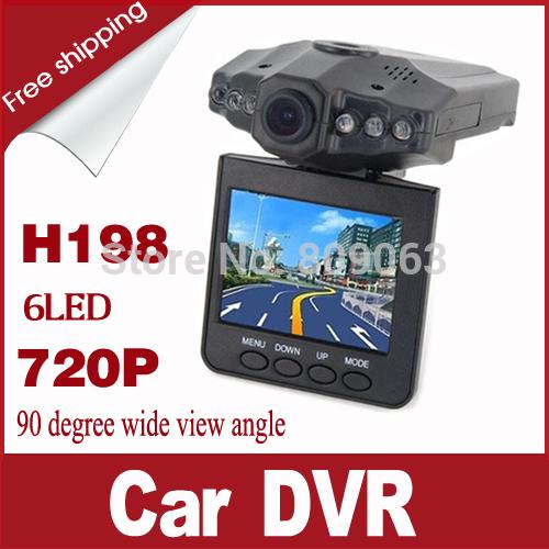 Cheap H198 Car DVR with 2.5 Inch 270 Degree Rotated Screen, 6 IR LED, 720P Night Vision Car Black Box Car Camcorder Dash Cam(China (Mainland))