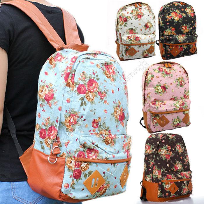 Floral School Shoulder Bag 77