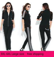 Cheap Wholesale Large Plus Size XXXL-6XL Women Fashion Casual Tracksuits Summer Gauze Stripes Short Sleeve Women Sportwear Sets