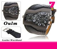 OULM Sports Watch Multiple Time Zone quartz Watch 1pcs  Boat nails military  men's wristwatches sub-dials decoration