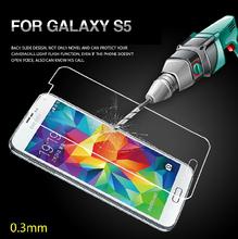 DHL navio 50pcs / lot temperado vidro protetor de tela para Samsung Galaxy i9600 S5 Reforçado Film Proteção Com Retail Box RCD(China (Mainland))