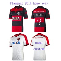 right version right logo home 2014 Flamengo home away jersey thai quality  AAA 1:1 custom name football shirt soccer