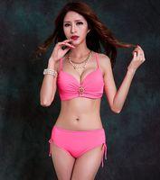 High Quality Sexy Bikini Set Swimsuit For Women Swimwear Big Breast Plus Size Underwired Bandage Beach Swimming Suits XX-166
