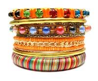 Vintage Handmade Colorful Women Fashion Multi Layers Bracelets and Bangles. Retro Indian Beaded Luxury BohemianJewelry Set