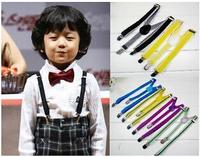2Free shipping-children`s Unisex Clip-on Braces Elastic Slim Suspender 1inch wide  mix Y- back Suspenders Wholesale & Retail