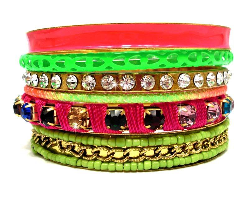 Vintage Handmade Colorful Women Fashion Multi Layers Bracelets and Bangles. Retro Indian Beaded Luxury Rhinestone Neon Jewelry(China (Mainland))