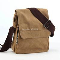 Hot sale:2014 Canvas man  vertical shoulder bag messenger  student school Handbag the trend of casual male bag