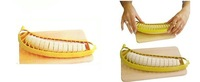 1PCS simple yellow plastic banana slicer, easy and convenient and practical kitchen essential