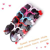 children sunglasses Super Cute Children's Heart-shaped sunglasses Love Sunglasses for Boys and girls child