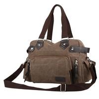 Free shipping 2014 Hot sale Vintage Style handbag Men's fashion shoulder bag High quality canvas handbag Leisure Bags