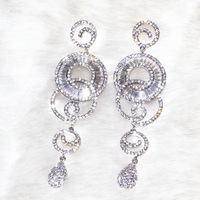 Amphibole circle buckle circle earrings Pure handicraft skills Full drill AAA zircon,478 stone grain ALW1869