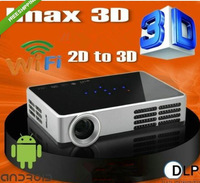 Convert 2D to 3D HD1080P Android Wifi DLP 2D to 3D HDMI VGA USB SD Card Handy Touched Panel Pocket LED Mini Projector beamer