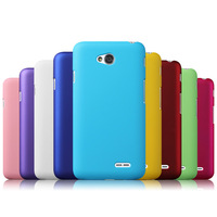 Free Shipping! High Quality Colorful Oil-coated Rubber Matte Hard Back Case for LG L70 Dual D325 Frosted Back Cover, LGC-042
