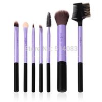 purple brushes Professional 7 Makeup Brush Set tools Make-up Toiletry Kit Wool Brand Make Up Brush Set Case Brand Brushes