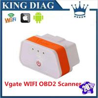 2014 Original Vgate WiFi iCar 2 OBDII ELM327 iCar2 wifi vgate OBD diagnostic interface for IOS iPhone iPad Android PC