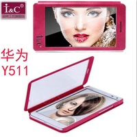 Original I&C Full Touch Screen Window Leather Flip Case For Huawei Ascend Y511 Free Shipping