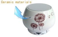 Free shipping Wireless bluetooth ceramic speaker subwoofer bluetooth wireless audio bluetooth speaker;