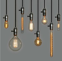 DIY free with Edison bulb chandeliers nostalgic coffee bar chandelier lamp Creative Arts  Free shipping