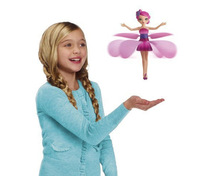 Free shiping Battery Operated Flying toy Flying Fairy electronic toys without music sunbeam flying flower faily flitter fairies