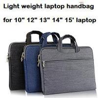 "IPAD laptop handbag for men and women 10"" 12"" 13"" 14"" 15.6"" laptop business handbag waterproof denim bag briefcase light weight"