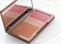 2014 Hot Sale Mini Naked Flushed 3 Colors Face Makeup Palette (Blush+Bronzer+Highlighter) 3 in 1 Combination Set