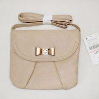 Free shipping New stradivarius European fashion style PU message bag shoulder bags Khaki color for girl ladies  women