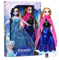 Hot sell Frozen doll 11.5 inch High quality Elsa and Anna Frozen Princess Dolls good girl gifts for girl,2pcs/lot -with box
