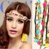 Drop Shipping free shipping Hot Sale New Fashion Womens Bohemia Beach Flower Hair Bands Headband Hair Accessory Headwear FDA19