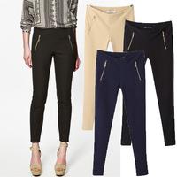 2014 new fashion women pants European retro counter stretch elastic waist pants feet casual trousers Slim Leggings S/M/L/XL