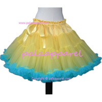 Women pettiskirts light yellow blue monthers tutu skirts Fluffy Chiffon tutu women photo props