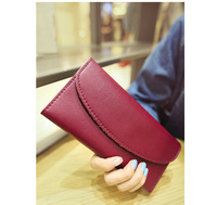 Brief long design female fashion wallet genuine leather card holder clutch wallet