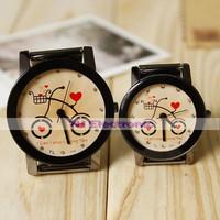New black summer Peach heart / bike loves  Watch fashion watch men strip for wholesale gift free shipping