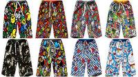 New 2014 summer High quality 100% cotton fashion Cartoon print camouflage boys shorts kids children pants Casual beach 6PCS/Lot