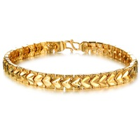 Fashion love heart bracelet 18k gold plated women bracelet bangle N399