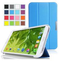 For Samsung Galaxy Tab Pro 8.4 ABL Brand Magnet Leather Case For Samsung Galaxy Tab Pro 8.4 3 Fold Smart Case +Stylus+ScreenFilm