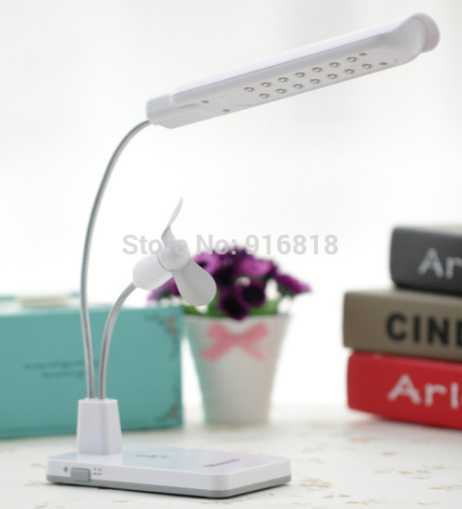 Free Shipping Computer Usb Desk Lamp Two-in-One Usb Fan Small Computer Fan Usb Light Fan for Notebook(China (Mainland))