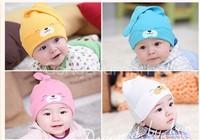 2014 new arrival love style Comfort Cartoon Baby Toddlers Cotton Sleep Cap, Cute Hat,Beanie Infant hat,Sleep Hat Newborn XLL357