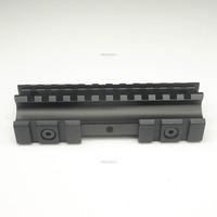 Gun Rail Base Rifle Weaver Heavy Duty 20mm Picatinny Tri Side Mounts Flat Top