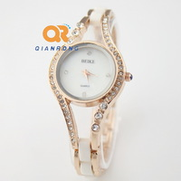 Wristwatches New 2014 Fashion Style Design Vintage Ladies Quartz Bracelet  Rhinestone Dress Watches, designer Antique Watch