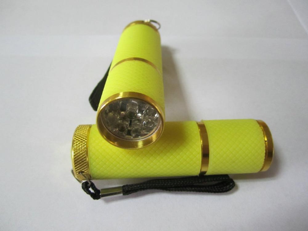New 2014 1pcs High Quality Yellow Mini UV Gel Acrylic Curring Lmap Nail Art Led UV Lamp Free Shipping(China (Mainland))