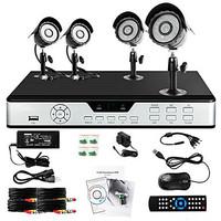 Zmodo 4 Outdoor CCD 600TVL 65ft IR CCTV Home Surveillance Security Camera System